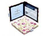 Fabric Blue Badge Holder - Mulberry Rose